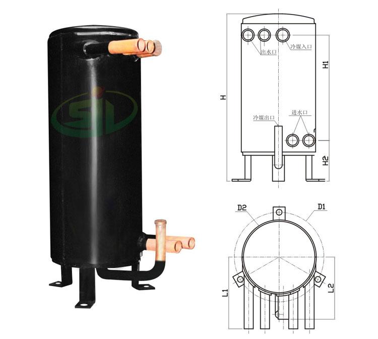 双水路高效罐换热器图纸